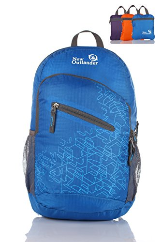Outlander Packable Handy Lightweight Travel Backpack Daypack-Dark Blue