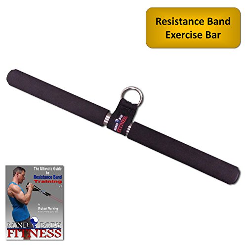 """Exercise Bands Bar: Mind Body Fitness 18"""" Steel Exercise Accessory Bar For"""