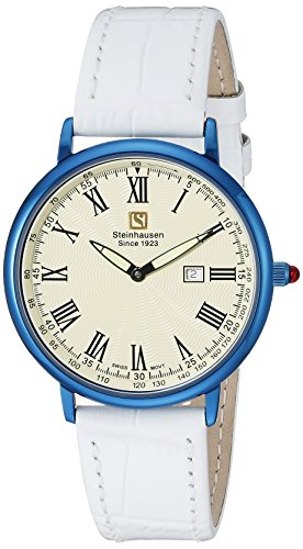 Steinhausen Men's GWL493UWA Dunn Luxe Analog Display Swiss Quartz White Watch