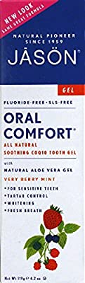 JASON NATURAL PRODUCTS Toothpaste Oral Comfort Non-Fluoride CoQ10 Gel 4.2 oz