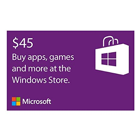 Microsoft Windows Store Gift Card - $45 Value [Online Code]
