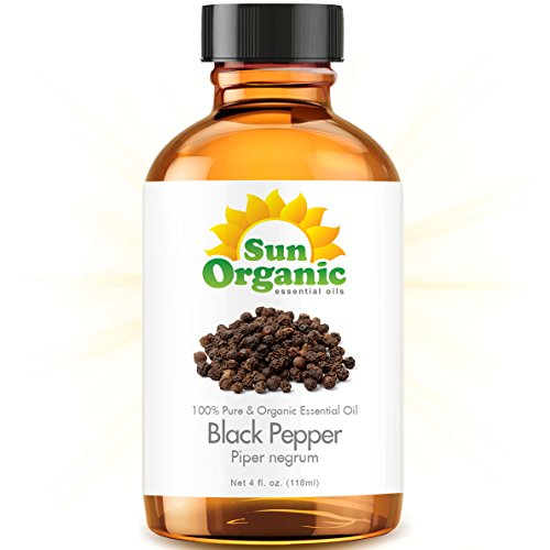 Black Pepper - Large 4 Ounce - Organic, 100% Pure Essential Oil (Best 4 Fl Oz / 118Ml) - Sun Organic