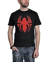 Spider-Man Red Logo T-Shirt schwarz