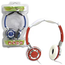 Folding Stereo Headphones Heavy Bass 5 Ft Cable [12 Pieces] *** Product Description: Headphones Music Earphones Folding Dr Style I Phone Radio ***