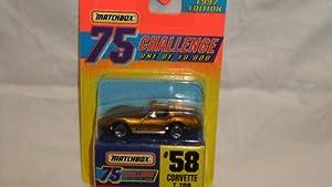 MATCHBOX 1997 EDITION 75 CHALLENGE 1 OF 10,000 #58 CORVETTE T-TOP GOLD EDITION DIE-CAST