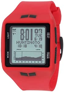 Vestal Men's BRG009 Brig Tide and Train Red Black Positive Digital Surf Watch