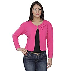 Franclo Women's Shrug (Pink, 32)