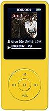 AGPTek® 2015 Dernière version 8 Go et 70 heures de lecture MP3 Lossless Sound Music Player (Prend en charge jusqu'à 64 Go) (Jaune)