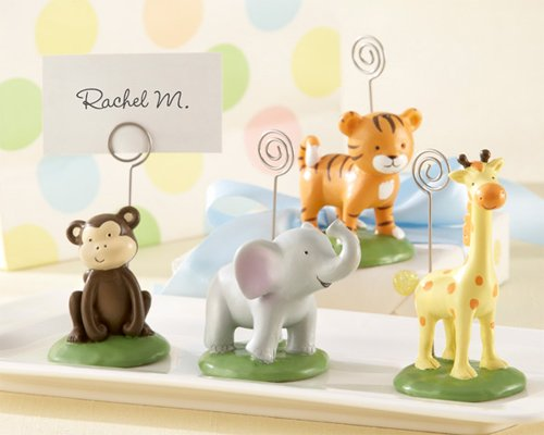 Born To Be Wild Animal Place Card Photo Holders Set of Four Assorted (Animal Picture Holders compare prices)