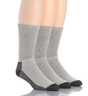 Wigwam At Work Crew Sock 3-Pack, Grey, Medium
