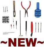 NEEWER Wrist Watch Repair / Maintenance Kit w/ 16 Tools