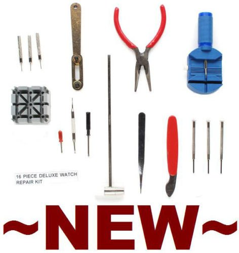 NEEWER Wrist Watch Repair / Maintenance Kit w/ 16 Tools