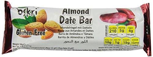 Oskri Almond Dates Bar, 1.9-Ounce (Pack Of 20)