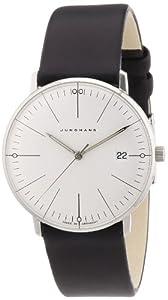 Junghans 047/4251.00 - Reloj analógico de cuarzo para mujer con correa de piel, color negro