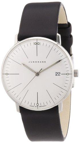 Junghans Uhren Max Bill 047/4251.00 - Orologio da polso da donna, cinturino in pelle colore nero