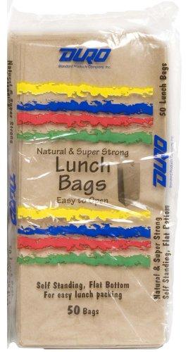 "Duro Lunch Bag, Kraft Paper, 5 lb Capacity, 3-7/16""x5-1/4""x10-15/16"" 1200 ct, ID# 80055 - 1"