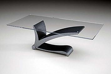 Mesa de centro de mármol con tapa de cristal Modelo. Fauno - Cm 120 x 60 - altura: cm 40 - Acabado: bruñido