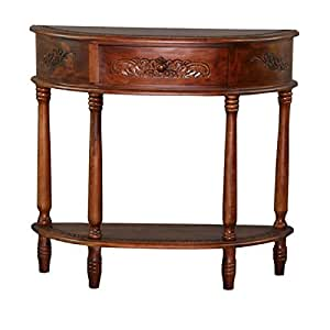 Carved Half Moon Wall Table Kitchen Dining