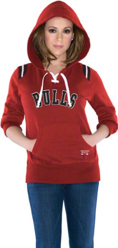 Chicago Bulls Women's Touch Laced Up Fleece Hooded Sweatshirt - by Alyssa Milano at Amazon.com
