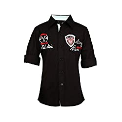ShopperTree Formal Wear Black Shirt.black,4-5Y