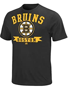 NHL Boston Bruins Men's Tape To Tape Short Sleeve Shirt, Black, X-Large