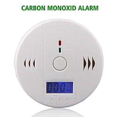 LEMONBEST LCD Display CO Carbon Monoxide Poisoning Smoke Gas Sensor Warning Smoke Alarm Detector by Lemonbest