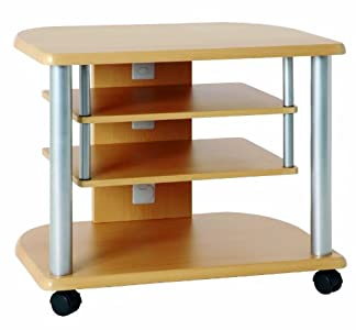 Buying Guide of  Haku Möbel 91700 Television Stand Tubular Stainless Steel Aluminium / Beech
