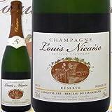 シャンパーニュ・ルイ・ニケーズ・ブリュット・レゼルヴ フランス 白スパークリングワイン 750ml ミディアムボディ 辛口