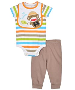 "Sock Monkey ""Lil' Explorer"" 3-Piece Outfit"