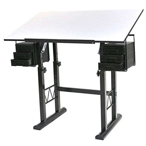 Martin Universal Design Liz White Top Drawing and Hobb Craft Table (Cast Iron Drafting Table compare prices)