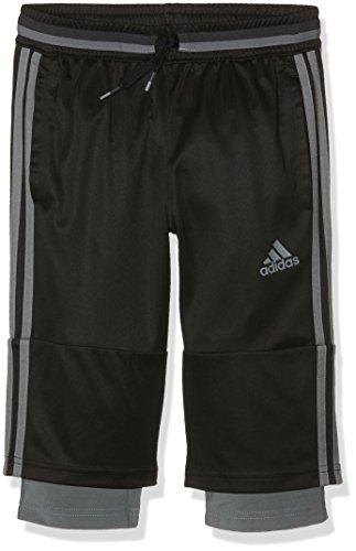 Adidas bambini tempo libero abbigliamento 3/4pants, Bambini, Hose 3/4 Bis 7/8 Con16 Pants, Black/Vista Grey, 116