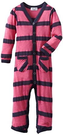 Splendid Littles Baby-Girls  Seville Stripe Jersey Playsuit, Pink/Navy, 18-24