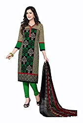 Varsha Women's Chiffon Unstitched Dress Material (Multi-Coloured)