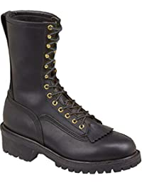 "Thorogood Men 10"" Wildland Black Fire Resistant Boot Removable Kiltie 834-6371"