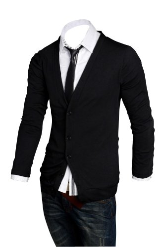 Keral Casual V-neck Coat Slim Polo Cardigan Men Cashmere Sweater