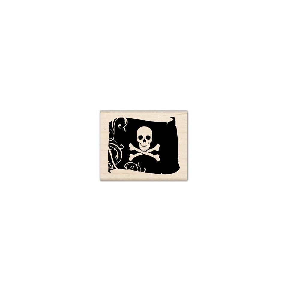 Inkadinkado Mounted Stamp JOLLY ROGER PIRATE FLAG