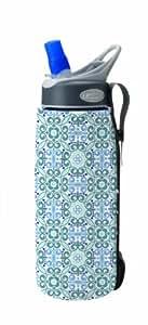 CamelBak Insulated Bottle Sleeve (Blue/White Floral, .75 Litre/24 -Ounce)