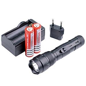 CREE XML T6 Linterna LED, Compacta y Ultrabrillante, 5 modos con batería y cargador