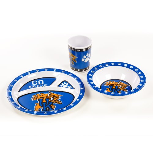 NCAA Kentucky Wildcats Kids 3-Piece Dish Set