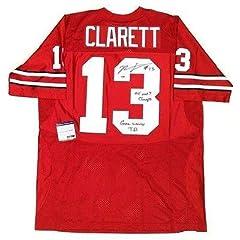 Maurice Clarett Signed Jersey - & Inscribed Psa dna Coa