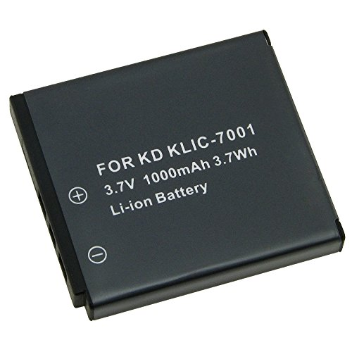 High Capacity KLIC-7001 Replacement Lithium-Ion Battery for Kodak EasyShare M1073 IS, M1063, M893 IS, M863, M763, M853, M753, V705, V610, V570, V550 Digital Camera