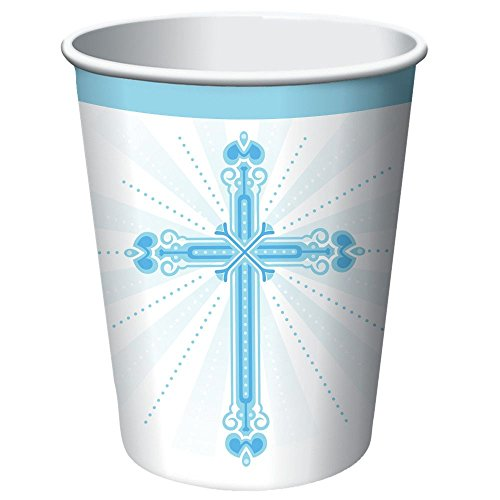 Blessings Blue 9 oz Hot/Cold Paper Cups 18 Per Pack