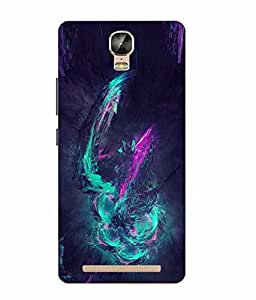 Make My Print Abstract Printed Blue Soft Silicon Back Cover For Gionee Marathon M5 Plus