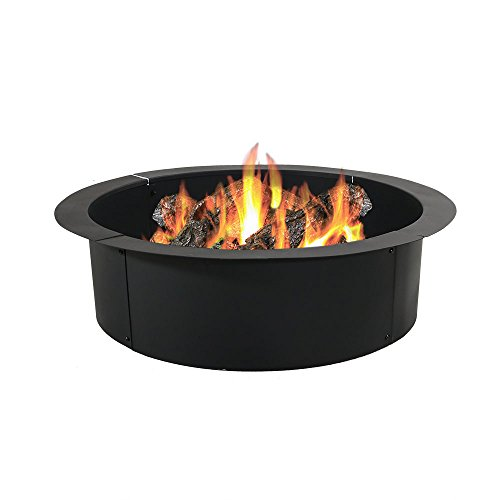 Sunnydaze Heavy Duty Fire Pit Rim, Make Your Own In-ground Fire Pit, 30 Inch Inside Diameter (Fire Pit Ring compare prices)
