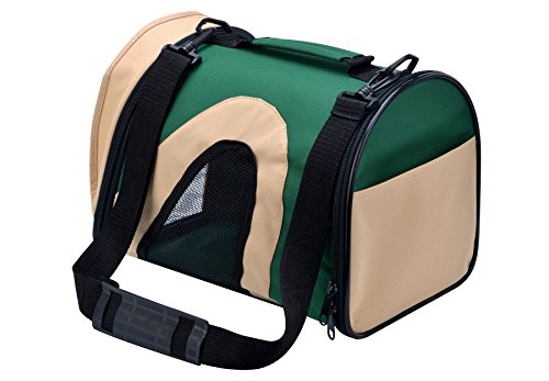 AWAMI Airline Approved Pet Carriers Soft-Sided Travel Portable Bag for Dogs Cats Puppies Green L – 17″L x 10″W x 11″H