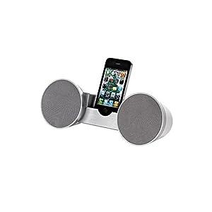 Clip Sonic TEC538 Docking station cassa altoparlante stereo universale iPhone (2 altoparlanti, braccio regolabile, design stravagante)