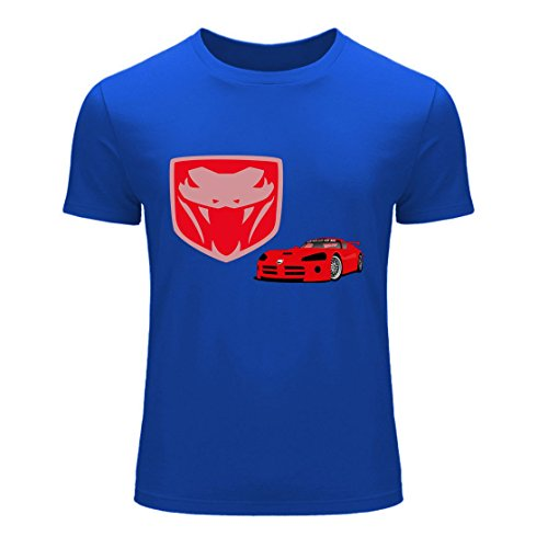 Men's Dodge Viper Logo Blue T-Shirt E1E4MJ