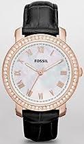 Fossil Emma Leather Watch - Black