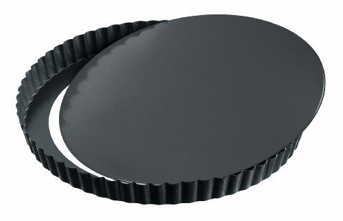 Kaiser Bakeware La Forme Plus Quiche Pan with Non-stick Coating and Lifting Bottom 12.5 Inches