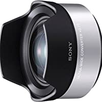 Sony VCLECU1 High Definition Wide Angle Conversion Lens - Silver from Sony